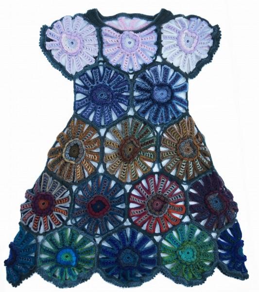 "Gehäkeltes Kleid ""Flamenco"" by SCHOPPEL DESIGN"