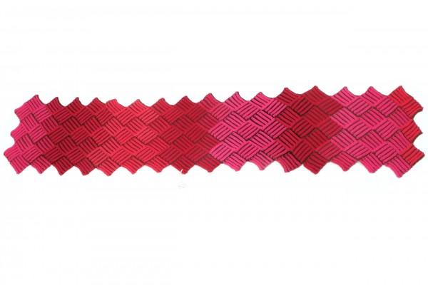 Zweifarbiger Schal im Entrelac muster by SCHOPPEL DESIGN